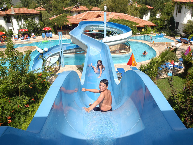The Aqua Slide at the Orka Hotel