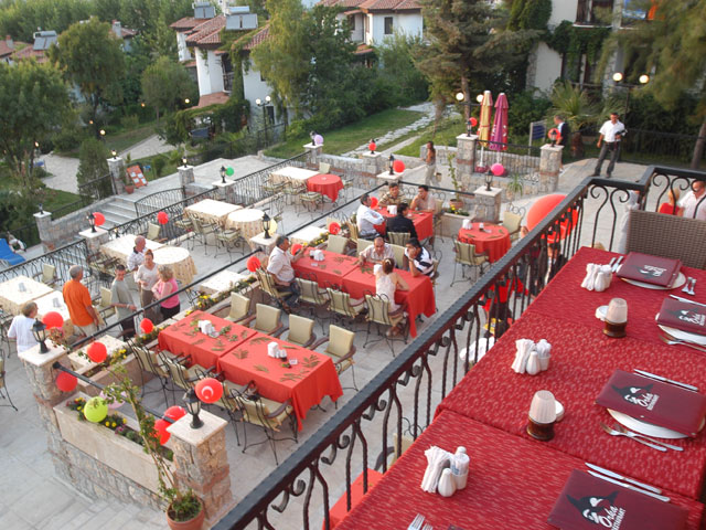 View of one of the many restaurants at the Orka Hotel
