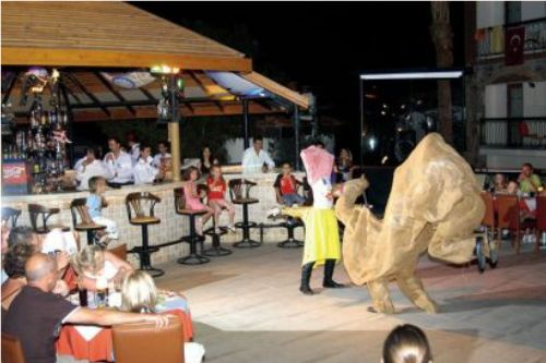 Entertainment evening at the Orka Hotel