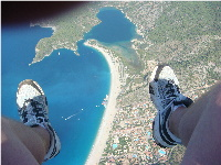 Making my way to Oludeniz from the Babadag Mountains via a paraglider