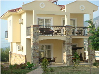 View of the front of the our Orka Emeralds villa