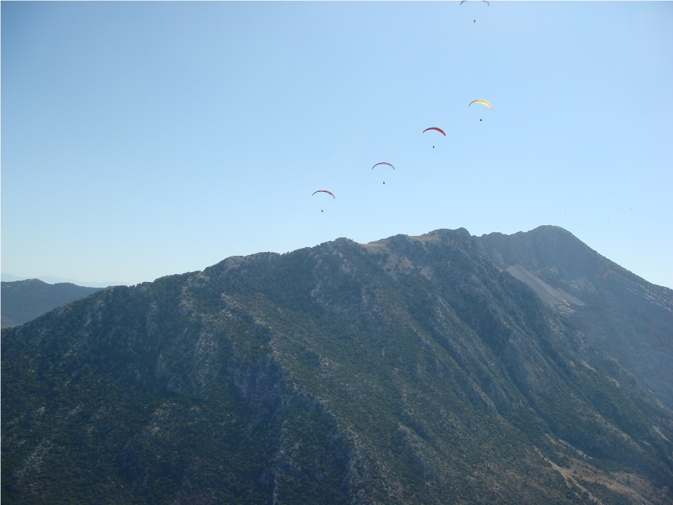 View of the Babadag Mountains from the Oludeniz