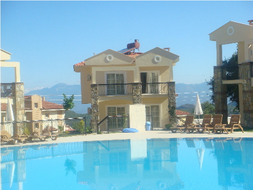 The villa situated near the swimming pool