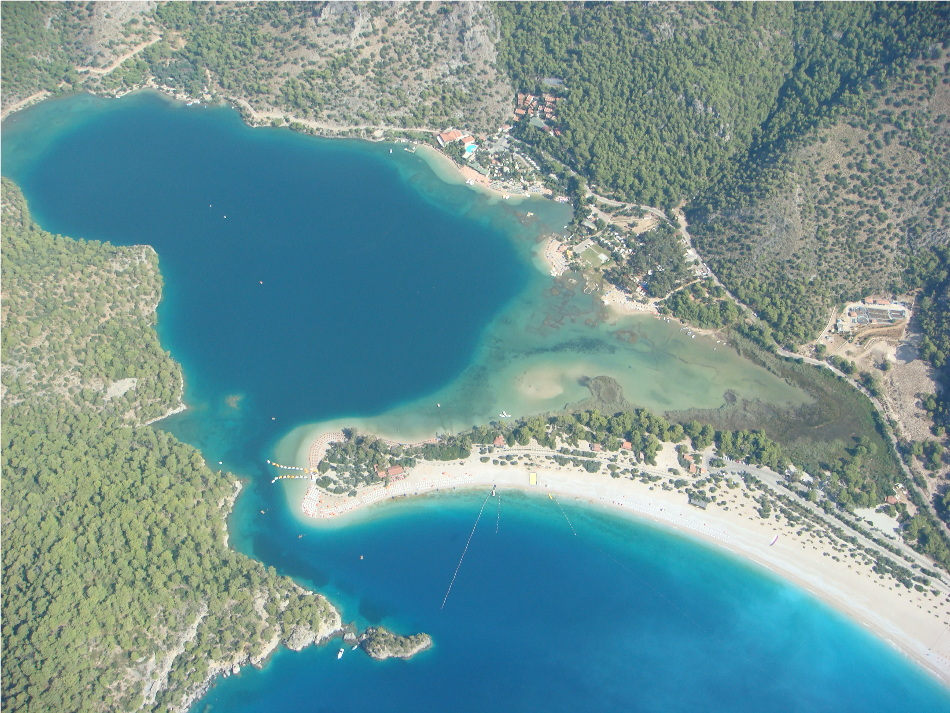View of the stunning bay at Oludeniz