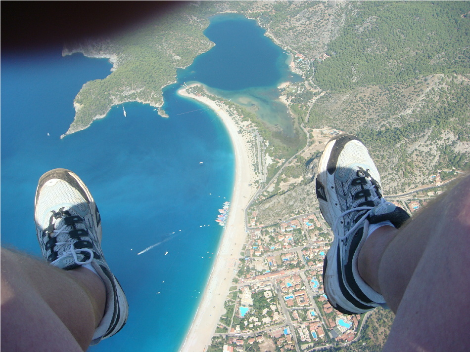 Paragliding from Babadag Mountain over Oludeniz Beach