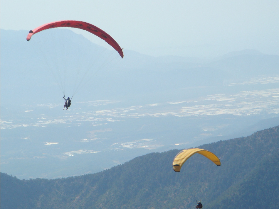 Paragliding from Babadag Mountain